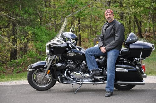 Motorcycle accident attorney Tony Mastando and his ride